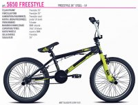 VELO ENFANT 20' BMX FREESTYLE Noir Jaune 105650U1