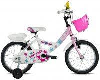 VELO ENFANT 16' TRILLY Rose/Blanc 1v 19T671