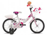 VELO ENFANT 14' LILLY Blanc/Rose  19T681