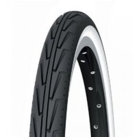 PNEU VELO MICHELIN 24x1 3/8 CITY'J Blanc/Noir 263967