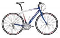 VELO TREKKING 28' H KCS ARWIN Bleu/Blanc 57 Course cintre plat 3T720B7