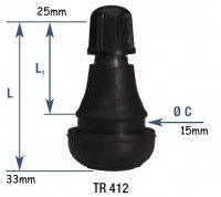 VALVE SCOOTER DRT Courte TR412 Tip Top 5622530