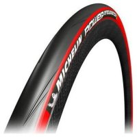 PNEU VELO MICHELIN 700x25 POWER ENDURANCE ROUGE  592442