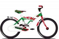 VELO ENFANT 12' GEKO ACIER Vert/Blanc B  5T690V