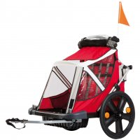 REMORQUE ENFANT TRAVEL Rouge / Noir Modulable BELLELLI BTRAVEL1