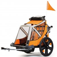 REMORQUE ENFANT B-TRAVEL Orange / Blanc Modulable BELLELLI BTRAVEL2