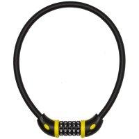 ANTIVOL CABLE CHIFFRE D.12 X 65 CM NOIR MAT COMBI  CAC65AUV12