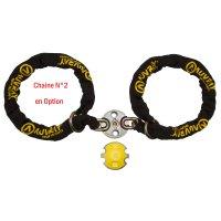 ANTIVOL CHAINE XTREM PROTECT D13,5 120mm SRA AVEC POINT FIXE ANCRAGE AUVRAY LASSO  CXTRP120LAUV
