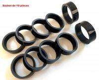 REHAUSSE POTENCE 28,6 CARBONE H10mm (Sachet de 10 pieces) ENTR286C