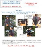 PROTECTION PILOTE GILET PROTECTION VTT+MOTO XXL GPXXL