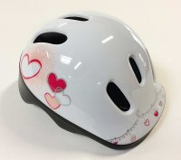 CASQUE KID 44-48 XXS WHITE PINK HEARTY HEARTY
