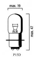 AMPOULE P15D CODE 12V 35-35 25-1 (Unité) LP1351