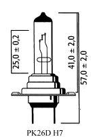 AMPOULE PK26D H7 12V 55 (Unité) LP2070