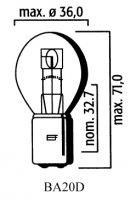 AMPOULE BA20D CODE 6V 35/35(Unité) LP3131