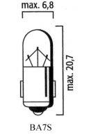 AMPOULE BA7S TEMOIN Bte 10 12V 2W LP4051
