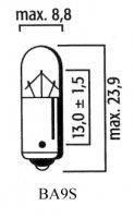 AMPOULE BA9S TEMOIN Bte 10 6V 4W LP4089