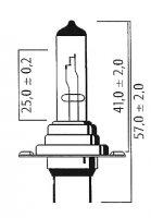 AMPOULE PK26D H7 12V 55 +90% (Unité) LPH790
