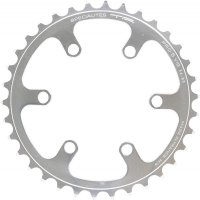 Couronne PRO 5 VIS (80) cyclo Inter/Interm 8V - Argent poli - 38dts ø80mm/6 branches SPECIALITES TA PL50080102-38