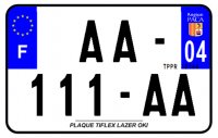 PLAQUE SIV MOTO & SCOOTER LASER OKI PLEXIGLAS 210X130 (04) PLAQUE210LZ04