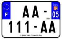 PLAQUE SIV MOTO & SCOOTER LASER OKI PLEXIGLAS 210X130 (05) PLAQUE210LZ05