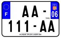 PLAQUE SIV MOTO & SCOOTER LASER OKI PLEXIGLAS 210X130 (06) PLAQUE210LZ06