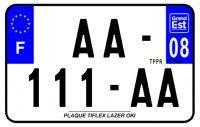 PLAQUE SIV MOTO & SCOOTER LASER OKI PLEXIGLAS 210X130 (08) PLAQUE210LZ08
