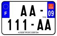 PLAQUE SIV MOTO & SCOOTER LASER OKI PLEXIGLAS 210X130 (09) PLAQUE210LZ09