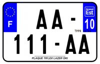 PLAQUE SIV MOTO & SCOOTER LASER OKI PLEXIGLAS 210X130 (10) PLAQUE210LZ10