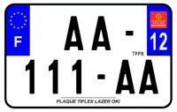 PLAQUE SIV MOTO & SCOOTER LASER OKI PLEXIGLAS 210X130 (12) PLAQUE210LZ12