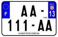 PLAQUE SIV MOTO & SCOOTER LASER OKI PLEXIGLAS 210X130 (13) PLAQUE210LZ13