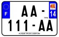 PLAQUE SIV MOTO & SCOOTER LASER OKI PLEXIGLAS 210X130 (14) PLAQUE210LZ14