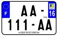 PLAQUE SIV MOTO & SCOOTER LASER OKI PLEXIGLAS 210X130 (16) PLAQUE210LZ16