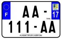 PLAQUE SIV MOTO & SCOOTER LASER OKI PLEXIGLAS 210X130 (17) PLAQUE210LZ17