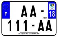 PLAQUE SIV MOTO & SCOOTER LASER OKI PLEXIGLAS 210X130 (18) PLAQUE210LZ18