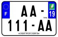 PLAQUE SIV MOTO & SCOOTER LASER OKI PLEXIGLAS 210X130 (19) PLAQUE210LZ19