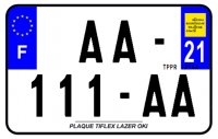 PLAQUE SIV MOTO & SCOOTER LASER OKI PLEXIGLAS 210X130 (21) PLAQUE210LZ21