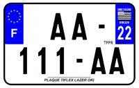 PLAQUE SIV MOTO & SCOOTER LASER OKI PLEXIGLAS 210X130 (22) PLAQUE210LZ22