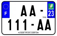 PLAQUE SIV MOTO & SCOOTER LASER OKI PLEXIGLAS 210X130 (23) PLAQUE210LZ23