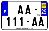 PLAQUE SIV MOTO & SCOOTER LASER OKI PLEXIGLAS 210X130 (25) PLAQUE210LZ25