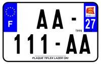 PLAQUE SIV MOTO & SCOOTER LASER OKI PLEXIGLAS 210X130 (27) PLAQUE210LZ27