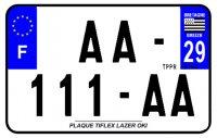 PLAQUE SIV MOTO & SCOOTER LASER OKI PLEXIGLAS 210X130 (29) PLAQUE210LZ29