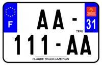 PLAQUE SIV MOTO & SCOOTER LASER OKI PLEXIGLAS 210X130 (31) PLAQUE210LZ31