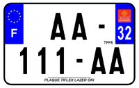 PLAQUE SIV MOTO & SCOOTER LASER OKI PLEXIGLAS 210X130 (32) PLAQUE210LZ32