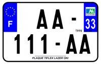 PLAQUE SIV MOTO & SCOOTER LASER OKI PLEXIGLAS 210X130 (33) PLAQUE210LZ33
