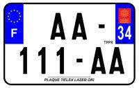 PLAQUE SIV MOTO & SCOOTER LASER OKI PLEXIGLAS 210X130 (34) PLAQUE210LZ34