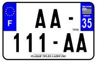 PLAQUE SIV MOTO & SCOOTER LASER OKI PLEXIGLAS 210X130 (35) PLAQUE210LZ35