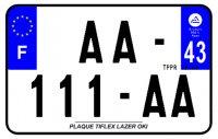 PLAQUE SIV MOTO & SCOOTER LASER OKI PLEXIGLAS 210X130 (43) PLAQUE210LZ43
