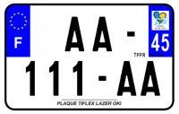 PLAQUE SIV MOTO & SCOOTER LASER OKI PLEXIGLAS 210X130 (45) PLAQUE210LZ45