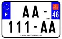 PLAQUE SIV MOTO & SCOOTER LASER OKI PLEXIGLAS 210X130 (46) PLAQUE210LZ46