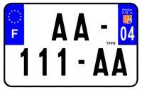 PLAQUE SIV MOTO & SCOOTER ALUMINIUM PREPERCE  210X130 (04) PLAQUEP21004